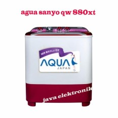 Aqua sanyo QW880XT Mesin Cuci Dua Tabung-garansi motor 5tahun