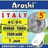 Ulasan Lengkap Arashi Kipas Angin 2 In 1 Rechargeable Ar138 Baterai Ac Dc Input Multifungsi