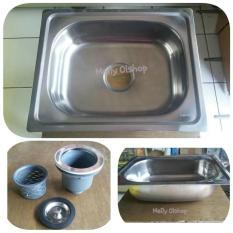 Bak Cuci Piring Stainless + Apur / Kran Cuci Piring / Kitchen Sink - Edd3ee
