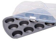 Promo Bake N Go Loyang Kue Dan Penutup Covered Muffin Pan 12 Cups