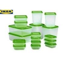 BEST PROMO IKEA PRUTA ORIGINAL/TEMPAT MENYIMPAN MAKANAN /TUPPERWARE 17 PC MURAH