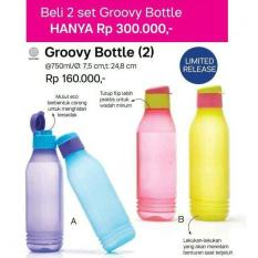 BEST PROMO TUPPERWARE GROOVY BOTTLE ECO 750ML TEMPAT MINUM BOTOL 750 ML