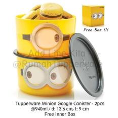 BEST PROMO TUPPERWARE MINION GOGGLE CANISTER (2PCS TOPLES LUCU)