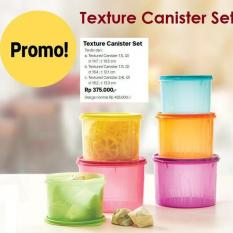 BEST PROMO TUPPERWARE TEXTURE CANISTER TOPLES KECIL LUCU