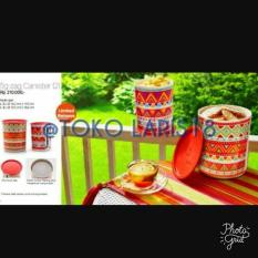 BEST PROMO TUPPERWARE ZIG ZAG CANISTER (TOPLES)