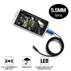 BEST SELLER - 2in1 OTG Micro USB Mini Kamera kabel Endoskopi Smartphone Laptop 5.5mm