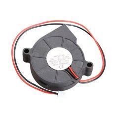 Hitam Brushless DC Cooling Blower Fan 2 Kabel 5015 S 12 V 0.06A 50x15mm