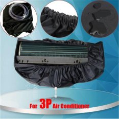Black Waterproof Air Conditioner Cover Washing Clean Protector + 3m Water Pipes For 3P - intl