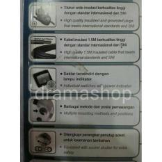 BN936 Multy Socket Stop Kontak Colokan Saklar Masing 6 Lubang Kabel Uticon