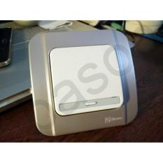 Broco Galleo 1 Gang 1 Way Switch  Saklar G161  Silver - Cbe767