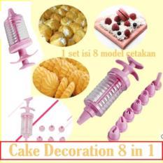 Cake Decoration 8 in 1 Pen Penghias Kue Tart Cookies Icing Pastry Art