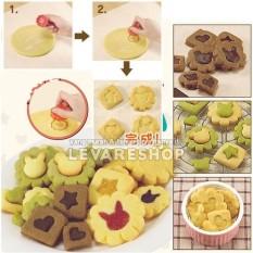 Cetakan Kue Biskuit / Cookies Mold 2 Layers - Bentuk Lucu (Isi 8 Pcs)