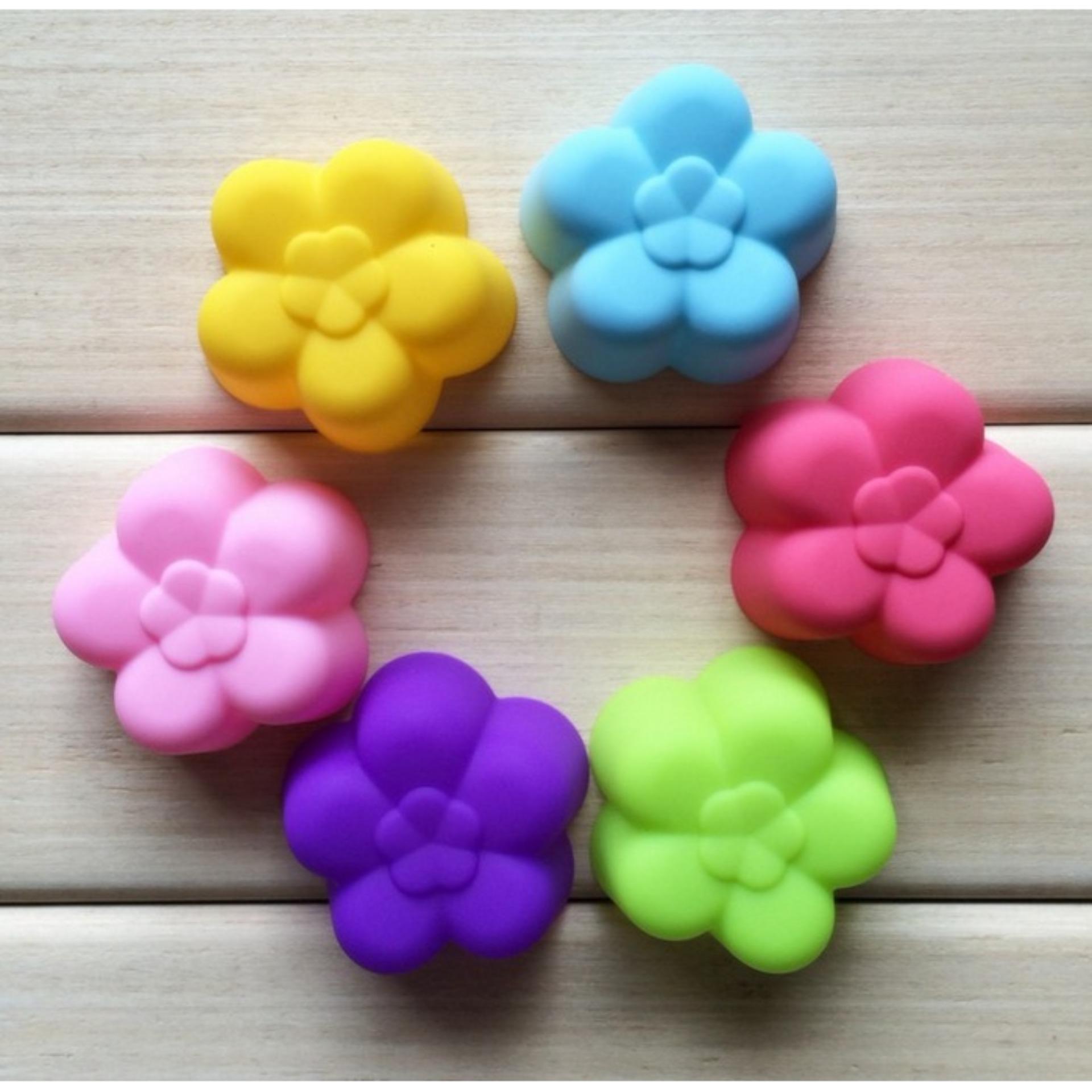 Harga preferensial Cetakan Pudding / Kue / Coklat Silicone Bentuk Bunga Plum Blossom Food Grade Silicone