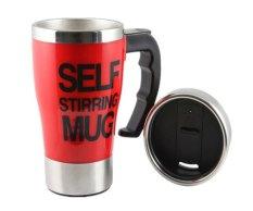 Harga Coffee Self Stirring Big Coffe Mug Pengaduk Kopi Otomatis Merah Fullset Murah