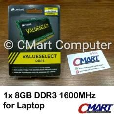 Corsair 8GB DDR3 1600 MHz SODIMM Memory RAM Laptop CMSO8GX3M1A1600C11