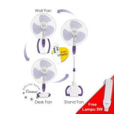 Review Toko Cosmos 16 S088 Kipas Angin Fan 3In1 16 Inch Wall Desk Stand