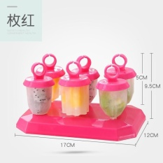 CStore Lucu Enam Assembly Love Es Kisi Cetakan Es Loli Icecream Mould DIY Es Krim Cetakan Made Ice Cetakan-Intl