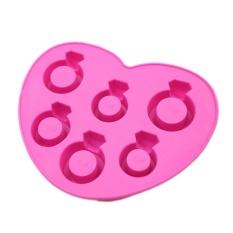 CStore Love Ring Bentuk Es Batu Nampan Pink-Intl