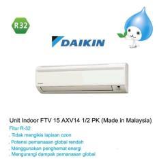 Daikin AC Split 1/2PK FTV15AXV (Malaysia) + Pasang + Vakum + Pipa Kabel 5m + Bracket - Khusus JAKARTA