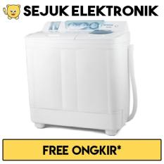 Denpoo DW-898W Mesin Cuci 2 Tabung 7 Kg - Putih (Khusus JADETABEK)