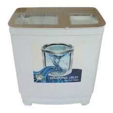 Promo Denpoo Dw 9893 Platinum Mesin Cuci Twin Tub Diamond Drum Gold Hitam Khusus Jabodetabek Denpoo