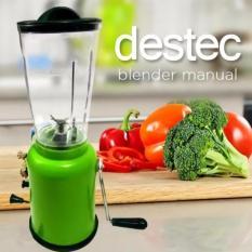 Destec Blender Manual Tanpa Listrik 2 Tabung Menggunakan Putaran Tangan Engkol