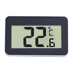 Kulkas suhu termometer Digital LCD meteran dengan kait Magnet (hitam) - International