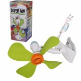Review Eelic Jm 389 18W 33Cm Kipas Angin Multi Fungsi Mini Fan 4 Baling Baling Jepit Terbaru