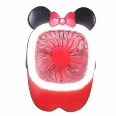 Spesifikasi Eelic Mif Minnie Merah 1 Pcs Kipas Mini Fan Usb Portable Rechargeable Yang Bagus