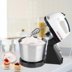 Elektrik 7 Kecepatan Kue Adonan Roti Mixer Telur Beater dengan Bowl 220 V 100 W-Internasional