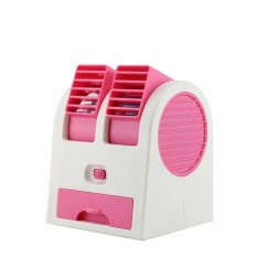 Emyli Mini AC Portable Double Fan Duduk Twin - Pink