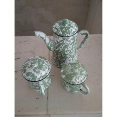 Eskan + 2 Mug Cangkir Jadul Set (9 Cm And 10 Cm) Vintage - 77Ad75