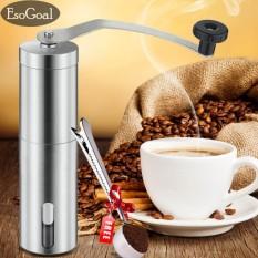 Esogoal Manual Coffee Grinder Dengan Hand Crank Conical Burr Mill Untuk Pembuatan Bir Presisi, Spice Dan Herbal-Dilengkapi Dengan Sendok Gratis-Intl By Esogoal.