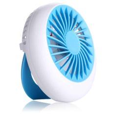 Exqusite Rechargeable Handle Mini Portable Fan / Kipas Mini Genggam - Biru