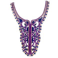 Fashion Leher Leher Kerah Bordir Menjahit Bekas Applique Kain Aksesori untuk Pakaian Home Textile Pertunjukan Panggung Membungkus Kado Kerajinan Dekorasi-Internasional