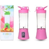 Fthree Shake N Go Portable With Usb Rechargeable Battery Mini Blender Juice Pink Terbaru