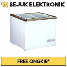 GEA SD-100 Sliding FLat Glass Freezer 100L - Putih - Khusus Jadetabek