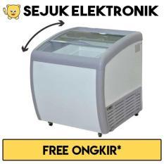 Jual Gea Sd 160By Sliding Curve Glass Freezer Premium Series 160 Liter Jadetabek Only Ori