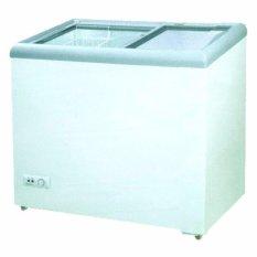 GEA Sliding Flat Glass SD-186 Putih Freezer free ongkir jabodetabek