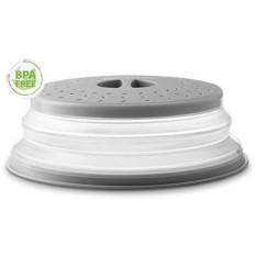 Gourmia GML9930 Dilipat Microwave Sarung-Kubah atau Datar Mangkuk dan Piring Tutup-Mencegah Makanan Splatter, membuat Oven Bersih Mengembang dari 1