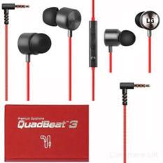 Handsfree Headset Earphone Lg G4 Quadbeat 3 Original Ori Red - 997B5C
