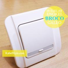 IB SAKLAR ENGKEL BROCO SNOW WHITE - GALLEO SERIES