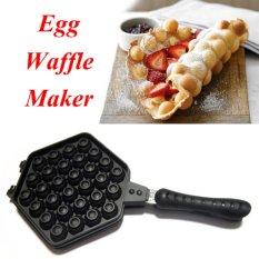 Pusat Jual Beli Ismart Best Quality Egg Waffle Hongkong Teflon Double Pan Telur 30 Lubang Alat Cetakan Waffle Anti Lengket Hitam Dki Jakarta