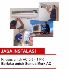 Jasa Instalasi AC kapasitas 0.5 - 1 PK Khusus Jakarta dan Bekasi Kota