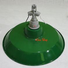 Kap Lampu Jalan Gantung Hijau E27 Set + Fitting / Fiting Keramik Besi - 9A3bb9