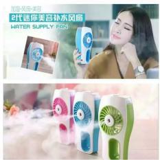 KIPAS AC MINI Portable Mini AC Beauty Replenishment Fan BS JD NANOMIST - Hijau