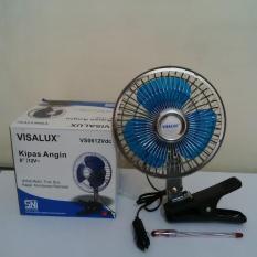 Kipas Angin DC jepit 6 inch Visalux Aki Mobil 12VDC VS06-12VDC + clip