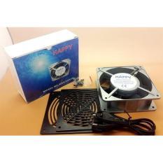 Kipas Angin LISTRIK 12 x 12 Cm HAPPY AC 220V Pendingin Kotak Persegi Coling Fan