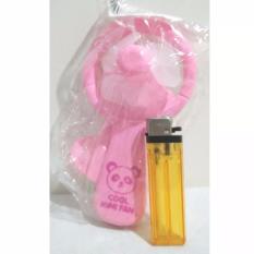 Kipas Angin Manual Pencet Besar Kipas Angin Murah Mainan Lucu - Pink