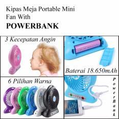 Beli Kipas Angin Meja Rechargeable Portable Mini Fan Bisa Untuk Powerbank 18 650Mah Multi Online